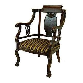 Georgian Style Open Armchair
