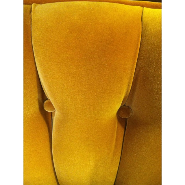 Image of Gold Velvet Tub Chairs - A Pair