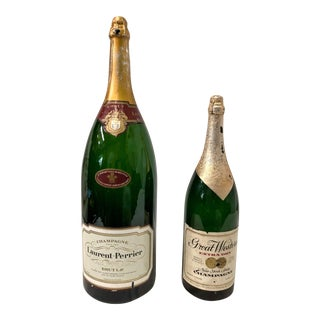 Vintage French Champagne Store Display Bottles - A Pair