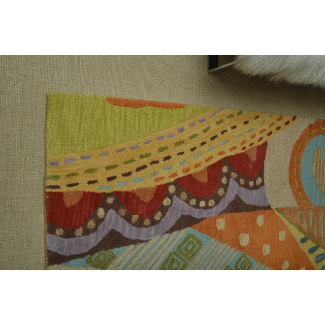Attractive Carpet Runner in Multi-Colored Deco Pattern - Image 8 of 9