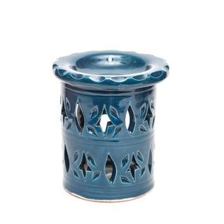Atlas Ceramic Candle Holder - Blue