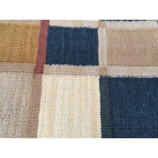 Geometric Indian Dhurrie Wool Rug - 4' x 6' - Image 6 of 8