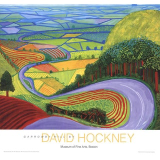 "David Hockney ""Garrowby Hill"" Poster"