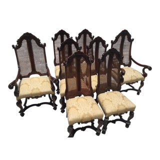 Louis XV Cane Backed Chairs - Set of 8