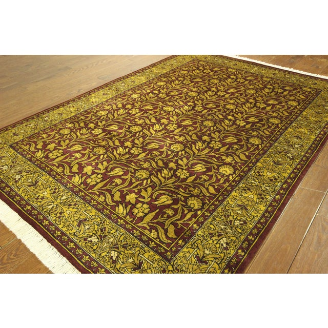 "Suzani Collection Oushak Floral Rug - 6'2"" x 8'10"" - Image 3 of 10"