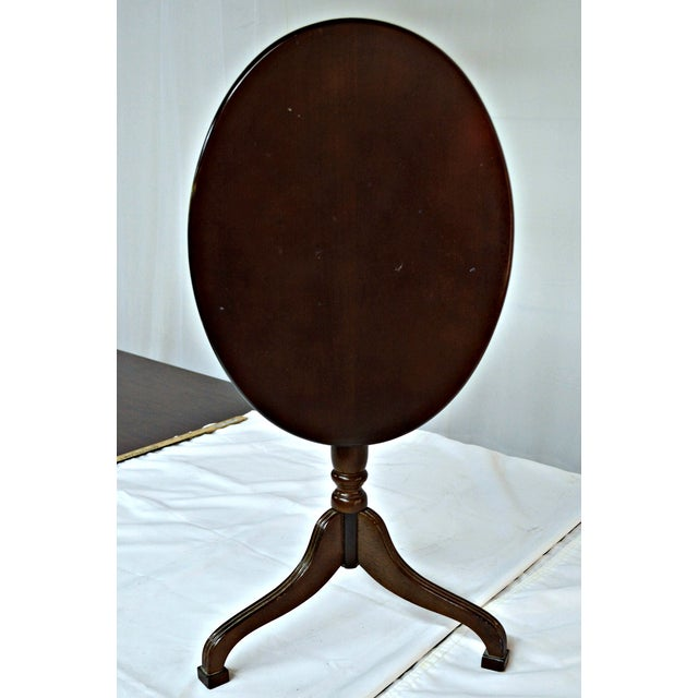 Oval Auxiliary Tilt Top Table - Image 7 of 10