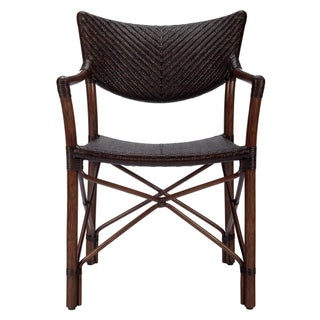 Selamat Designs Henny Cinnamon Rattan Arm Chair
