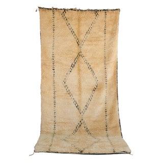 "Vintage Beni Ourain Moroccan Berber Rug - 6'6"" x 14'5"""