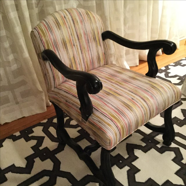 Image of Custom Traditional Upholstered Accent Chair