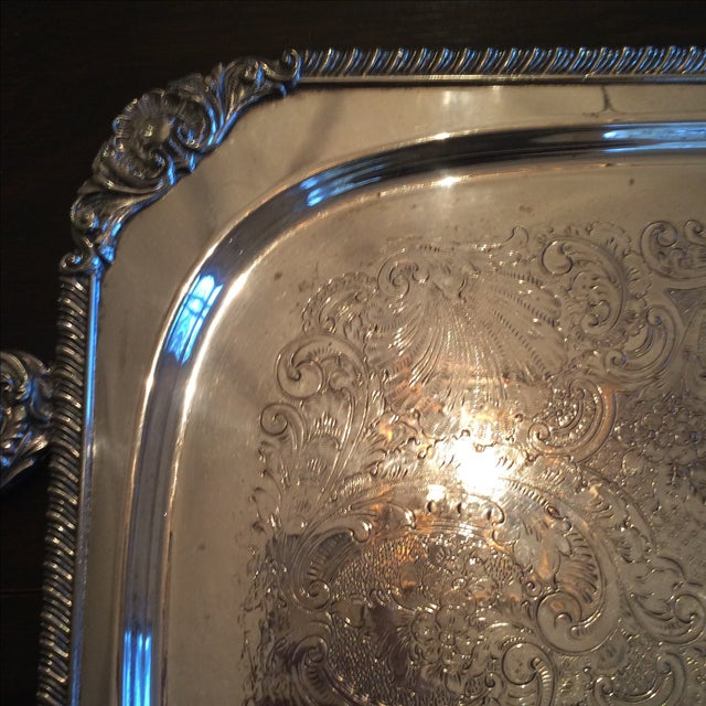 Silverplate Serving Tray - Image 7 of 11