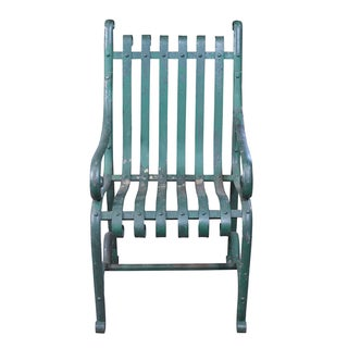 Vintage Green Iron Garden Chair