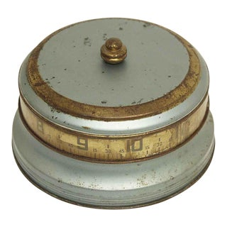 1930s Blue Mystery Rotary Tape Measure Clock