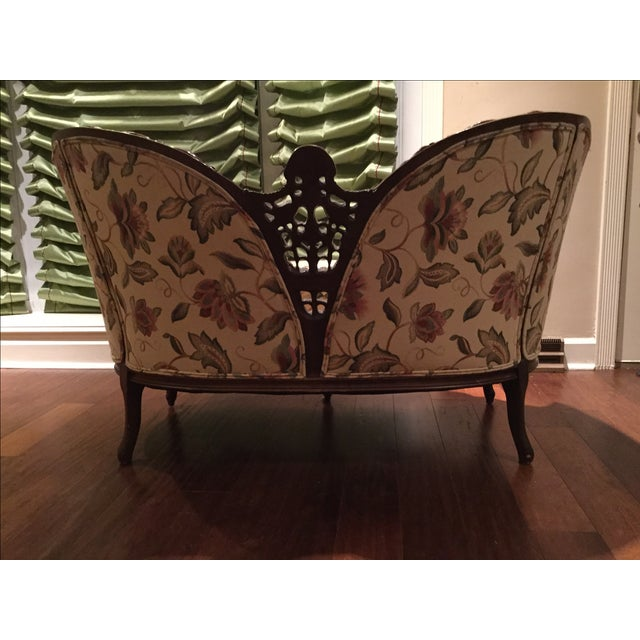 Image of Mid-Century 1950 Floral Pattern Settee