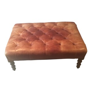 George Smith Tufted Leather Ottoman Bench