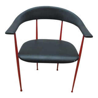 Vintage Mid-Century Danish Modern Metal Barrel Arm Chair