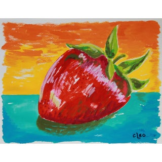 Strawberry Abstract Still Life by Cleo
