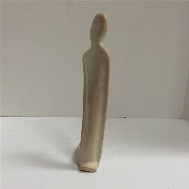 Kneeling Nude Modernist Sculpture - Image 6 of 11