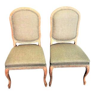 Vintage Italian Wheat Sheath Chairs - a Pair