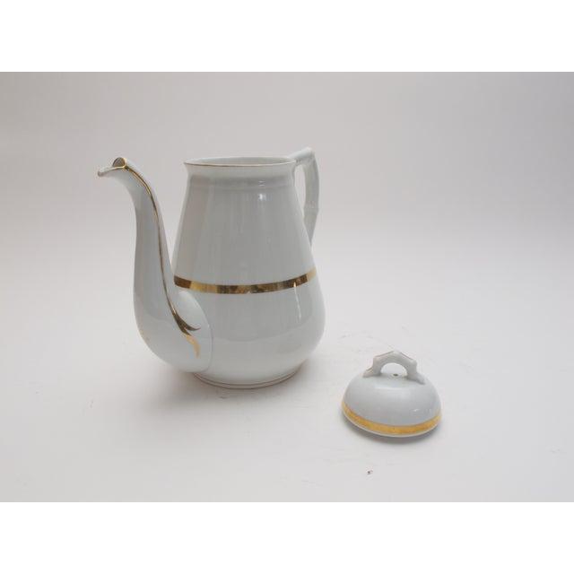 Image of Wedding Band China Antique Coffee Pot C. 1890s