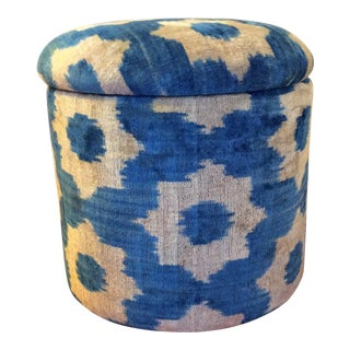 Ikat Ottoman with Storage