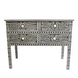 Traditional Black & White Bone Inlay Dresser
