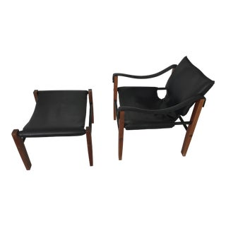 Maurice Burke Safari Chair & Foot Stool