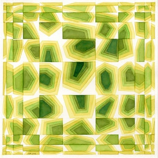 Shades of Green: Geometric Abstract Modern Art