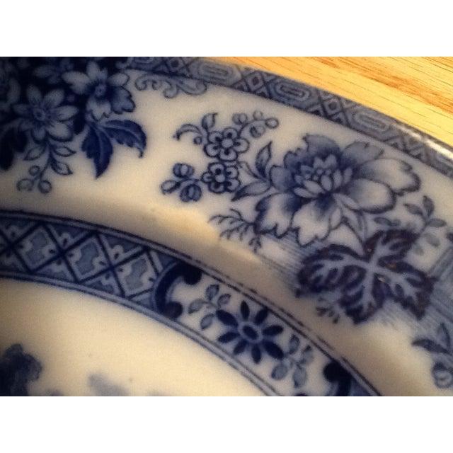Image of Doulton Madras Flow Blue Dinner Plates - Set of 5