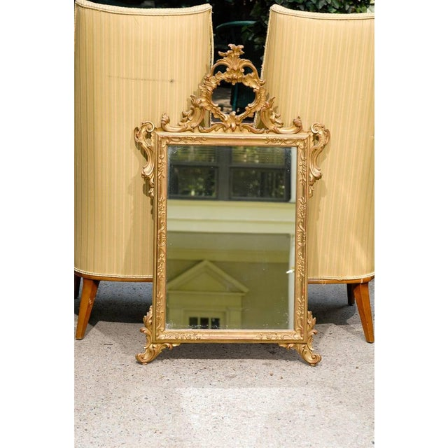 Italian Hand-Carved Rococo Gilt Mirror - Image 2 of 6