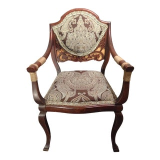 Reupholstered Paisley Edwardian Side Chair