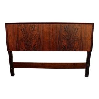 Seffle Mid-Century Danish Modern Rosewood Full Size Headboard