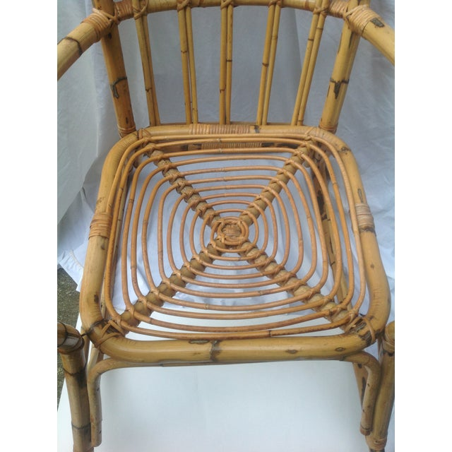 Mid-Century Ficks and Reed Style Bamboo Rocking Chair - Image 3 of 8