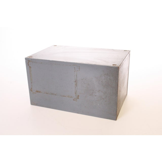 Vintage Industrial Gray 6 Drawer Kardex Style File Cabinet - Image 7 of 11
