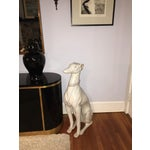 Image of Hollywood Regency Porcelain Greyhound Statue