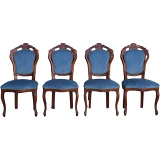 Antique Italian Dining Chairs - Set of 4