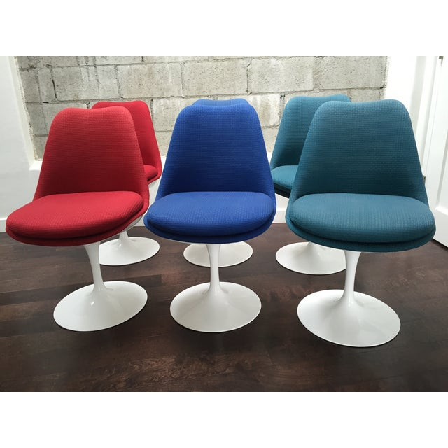 Eero Saarinen for Knoll Tulip Chairs - Set of 6 - Image 3 of 10