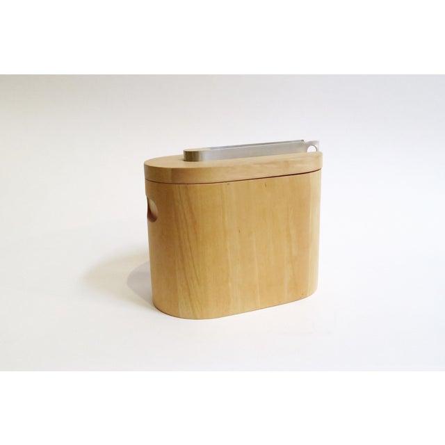 Modern Wooden Ice Bucket - Image 2 of 5