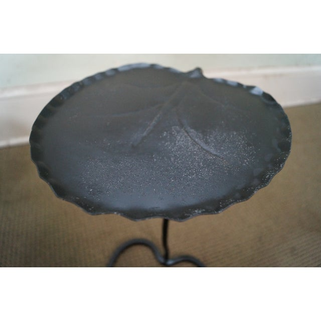 Salterini Iron Lily Pad Side Tables - Pair - Image 10 of 10