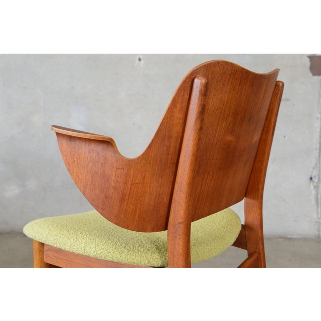 Hans Olsen Bent Teak & Oak Arm Chair - Image 7 of 8