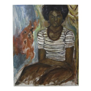 African American Woman Portrait Oil Painting