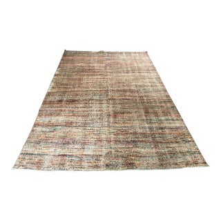 Vintage Zeki Muren Turkish Distressed Rug- 5′8″ × 8′10″