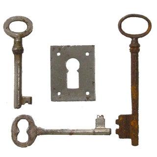Vintage French Skeleton Key Collection - Set of 4