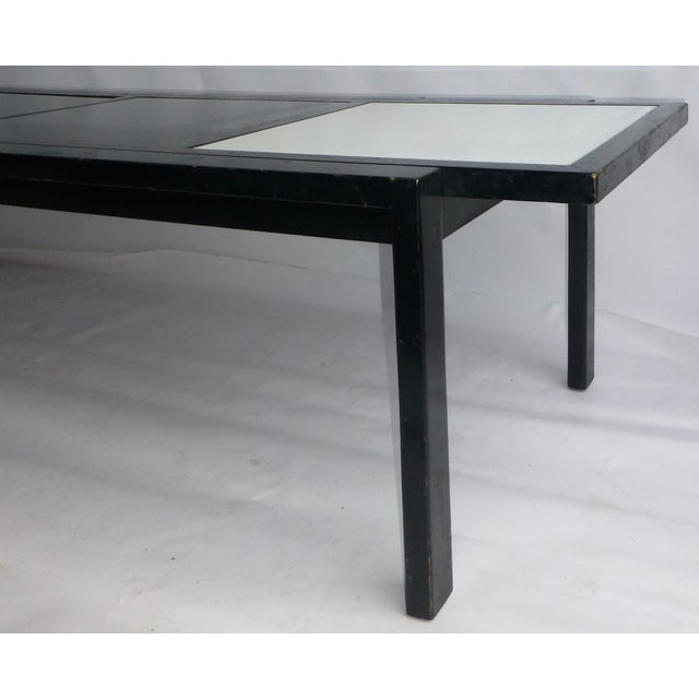MCM Widdicomb Glass Tile Topped Coffee Table