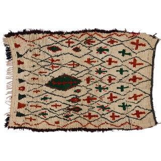 Vintage Berber Moroccan Rug - 4′3″ × 5′10″