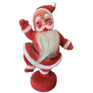 Mid-Century Modern Flocked Santa