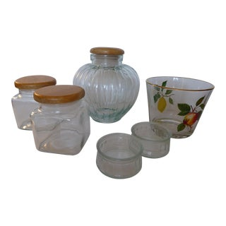 Glass Storage Kitchen Accessories - Set of 6