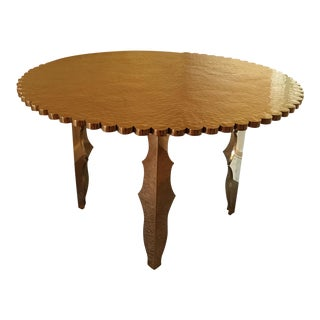 Solid Brass Scalloped Center Table