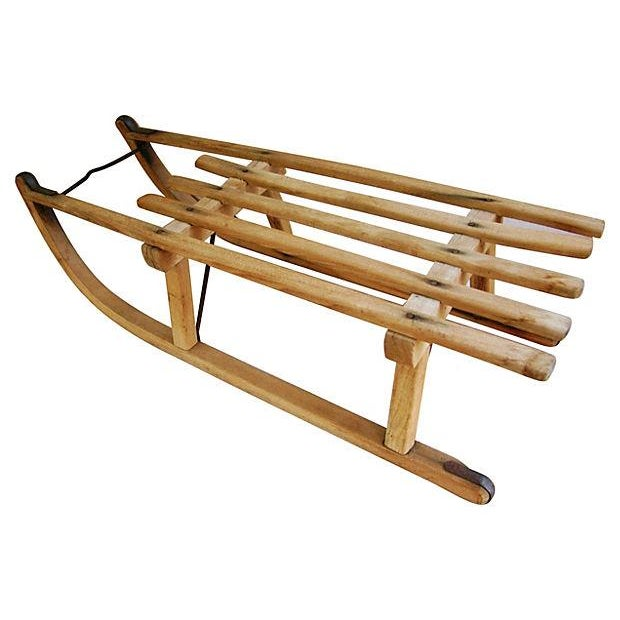 Antique Early 1900s Child's Snow Sled - Image 5 of 7
