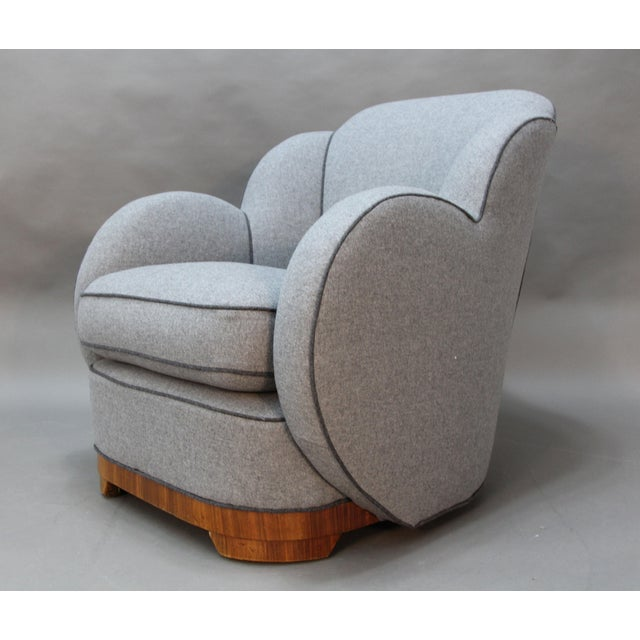 Art Deco Upholstered Chairs - A Pair - Image 3 of 9