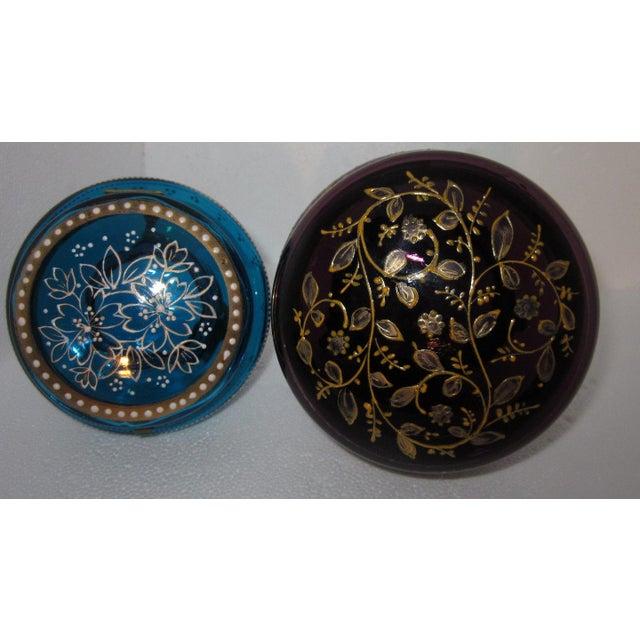 Victorian Czech Art Glass Ormolu Dresser Boxes - A Pair - Image 5 of 6